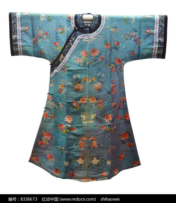 刺绣花团锦簇纳沙氅衣图片