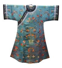 刺绣花团锦簇纳沙氅衣