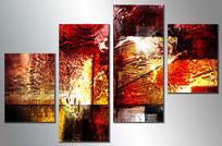 四联抽象无框画