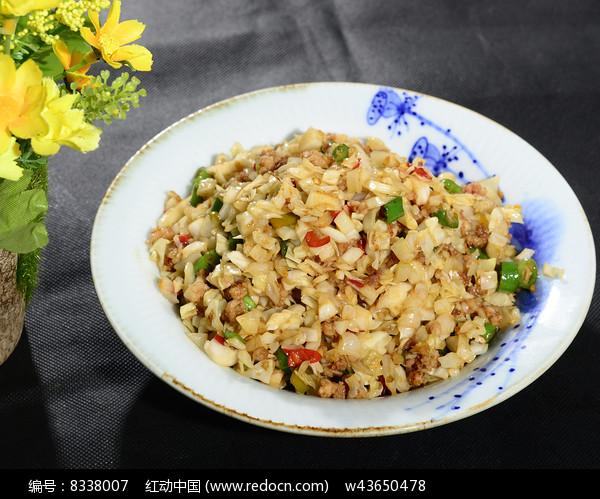 酸包菜肉沫图片