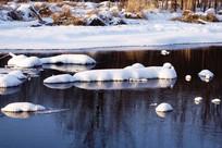 冰河雪包景观