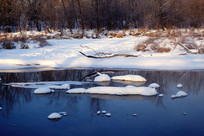 冰河雪包景色