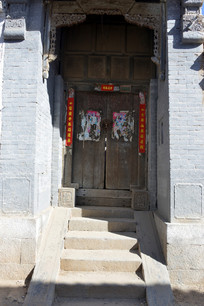 河南林州盘阳古街农家院门
