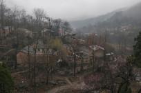太行山区的春天山村景色