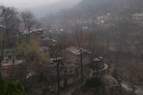 雨中太行山村美景