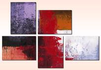 抽象油画现代简约无框画