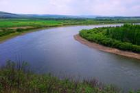额尔古纳河河湾风景