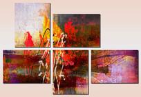 五联抽象画