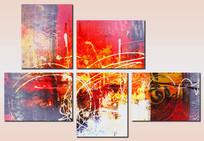 组合装饰画现代无框画
