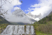 毕棚沟磐羊湖瀑布和叉子沟冰川