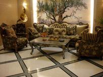 奢华美式沙发