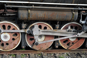 蒸汽火车头车轮
