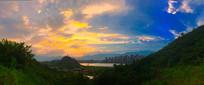 安州塔上的夕阳