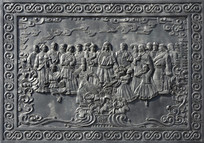 浮雕民族大团结
