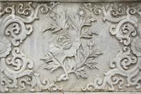 浮雕牡丹纹