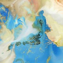 抽象画流彩水墨画