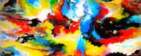 抽象油画图片 印花 无框画