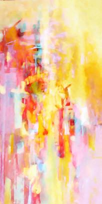 梦幻色彩抽象油画