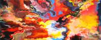绚丽色彩抽象油画