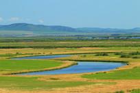 额尔古纳河和边塞村庄