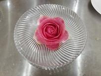 萝卜雕刻-月季花