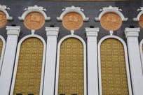 石雕杨家将文化墙