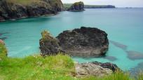 海洋边石岩