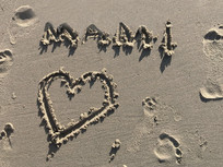 浪漫的沙海滩