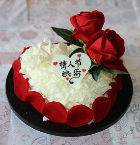 情人节玫瑰蛋糕