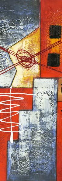 现代色块抽象艺术油画