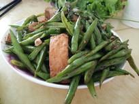 豆角炒豆腐图片