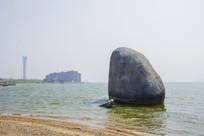 锦州世博园海头石与大海