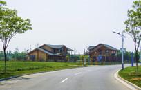 锦州世博园木制建筑与公路