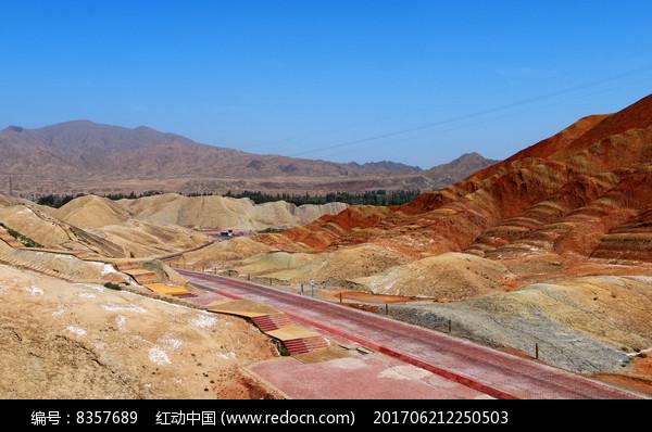 五光十色的张掖丹霞山图片