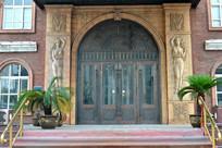 欧式酒店门口