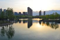 太行山脚下的林州城市风景