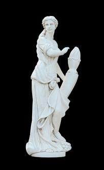 希腊四季女神之冬神刻蒙雕塑