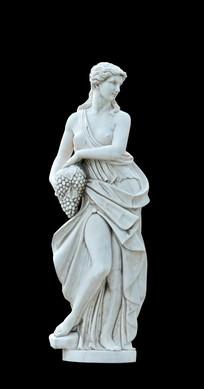 希腊四季女神之秋神佛提诺波戎雕塑