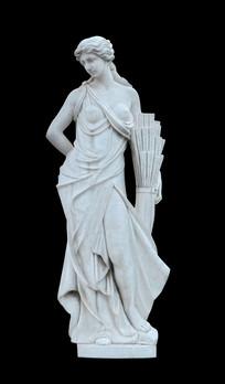 希腊四季女神之夏神忒洛斯雕塑