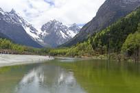 毕棚沟卓玛湖和狮子峰