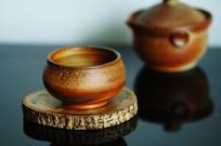 柴烧陶艺壶杯