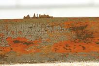 木头上自然掉漆形成的龟裂纹理