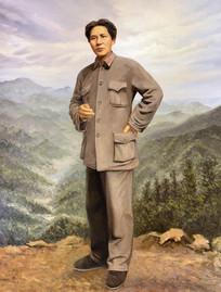油画红军时期毛泽东
