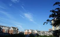 蓝天下的城市风光