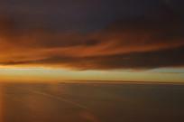 起风后的云层