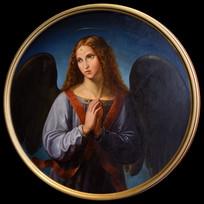 油画-祈祷的天使