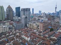 高空上海老城区