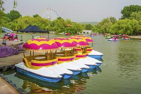 二一九公园劳动湖水上游艇