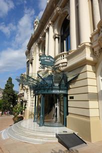 欧式建筑入口区域