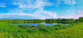 大兴安岭马兰湖风光 全景高清